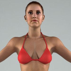 body rigged skin 3d model