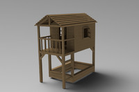 Playhouse with sandbox