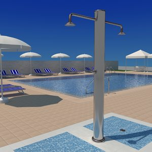 swimming pool complete 3d model