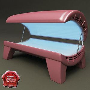 3d model tanning bed