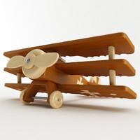 toy fokker dr1 3d model