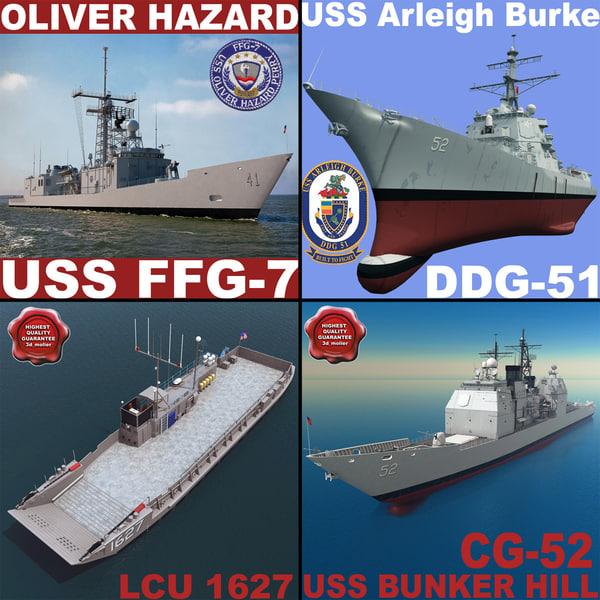 navy ships 3d model