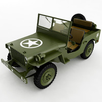 3d willys jeep