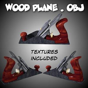 3d model wood plane