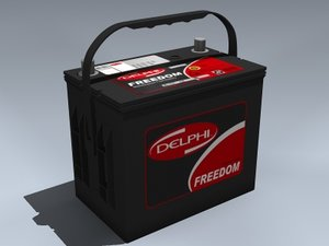 auto battery 3d max
