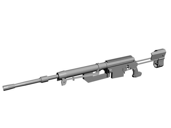 cheytac intervention sniper rifle 3d model