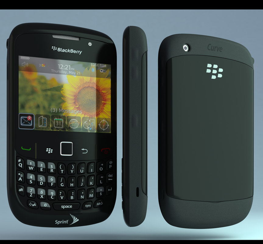 blackberry curve 8530 3d max