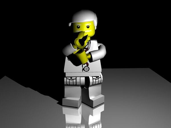free lego doctor 3d model