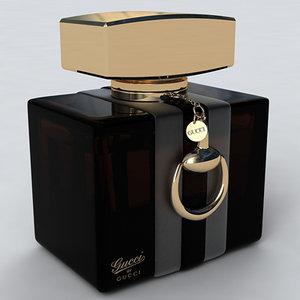 3d gucci perfume