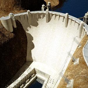 3d hydroelectric dam - model
