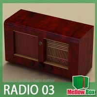 retro old radio major 3d model