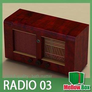 retro old radio major 3d model