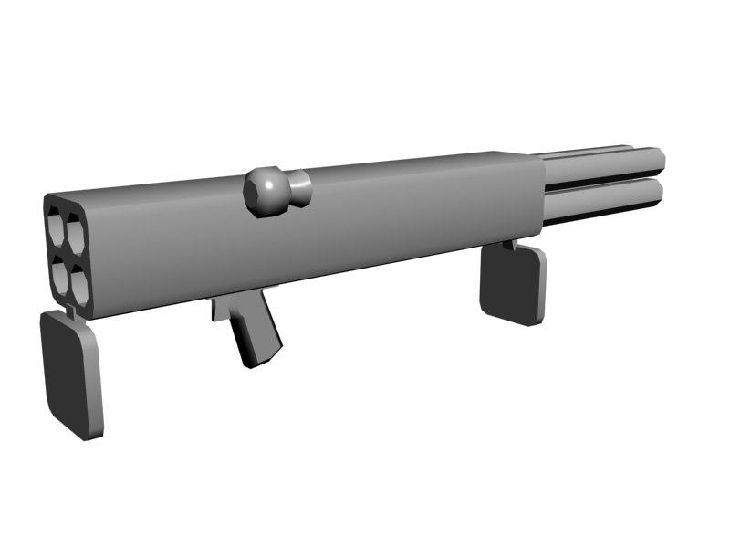 3d m202a1 flash rocket m202 model