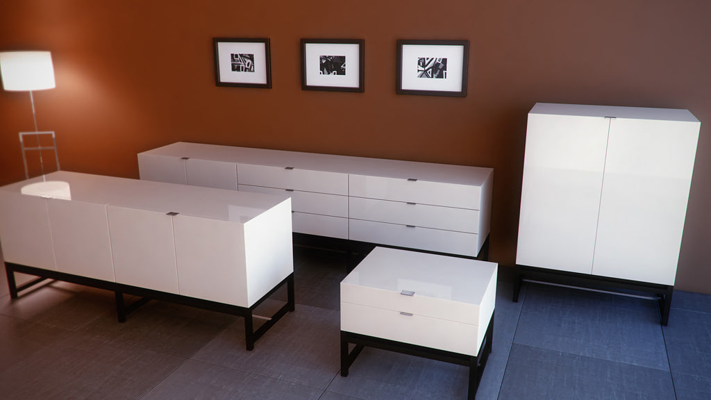 3d minotti harvey cabinets model