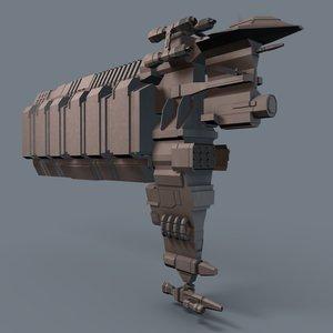 cargo drill laser 3d model