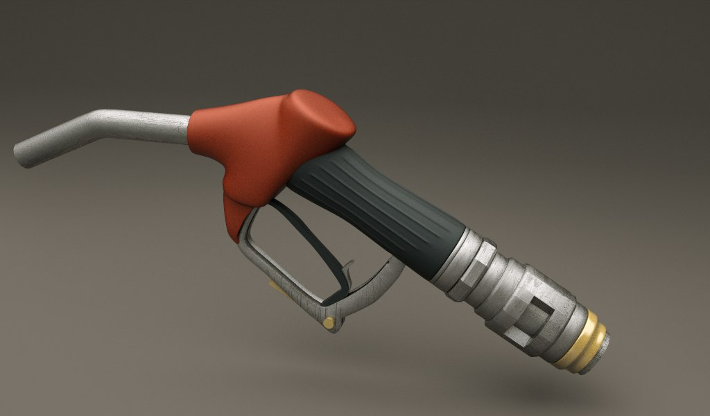 3d model gas pump nozzle