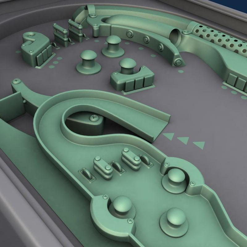 pinball table 3d model