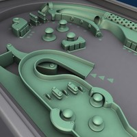 pinball table 3d model