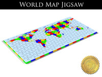 3d jigsaw puzzle world