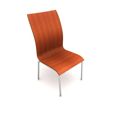 terra contemporary stacking chair 3d model