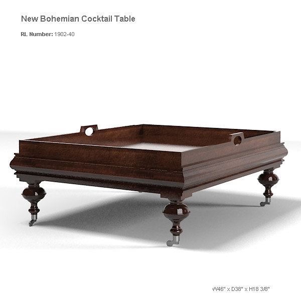 Ralph Lauren Classic Bohemian Cocktail Table Traditional 1902 40