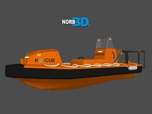 rescue boat 3d max