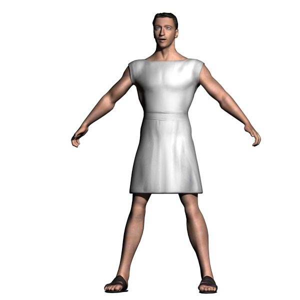 young roman male rigged 3d model