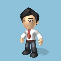 simple male cartoon 3d max