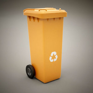 small garbage container 3d 3ds