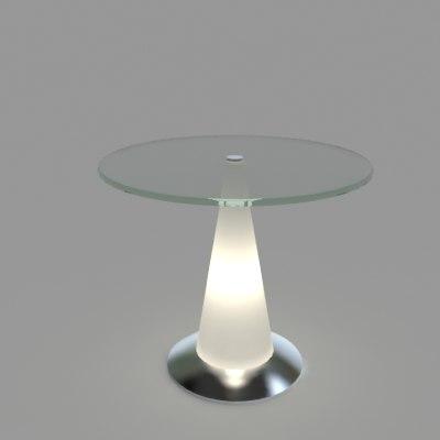 3ds max tavillo glass table illuminated