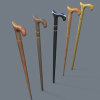 walking cane 3d model