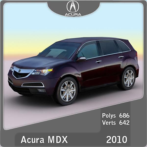 3d model 2010 acura mdx