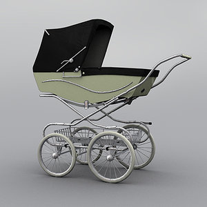 kensington classic baby pram 3d model