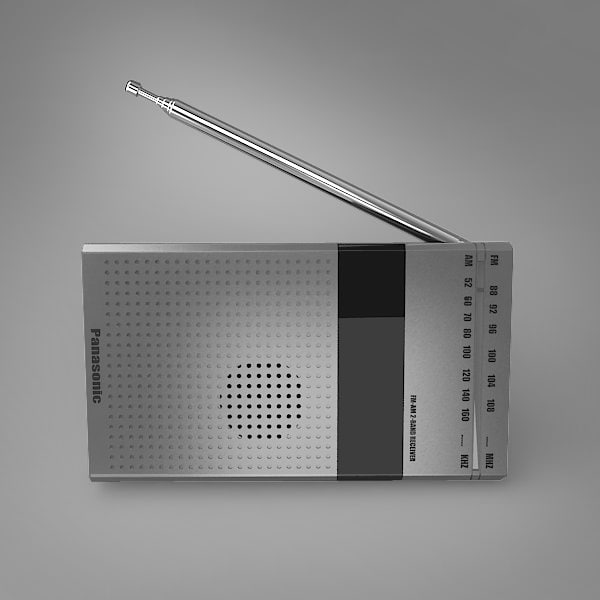 radio rhinoceros 3d model