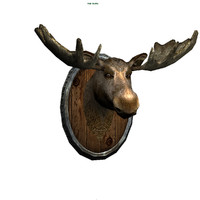 moose head 3d obj
