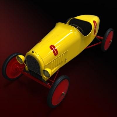 vintage racer t speedway 3d model