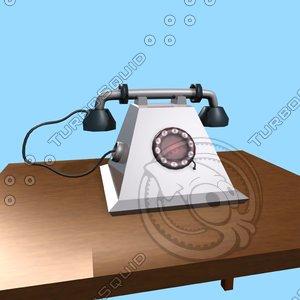 old telephone obj