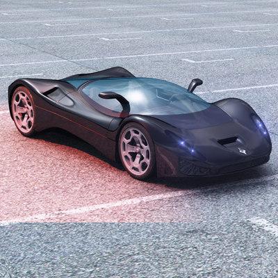 aurora car concept obj