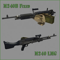 2 Variations: M240 Light Machine Gun and M240b for Vehicle mounting