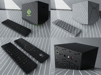 boxee box media player 3d model