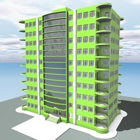 home skyscraper 3d model