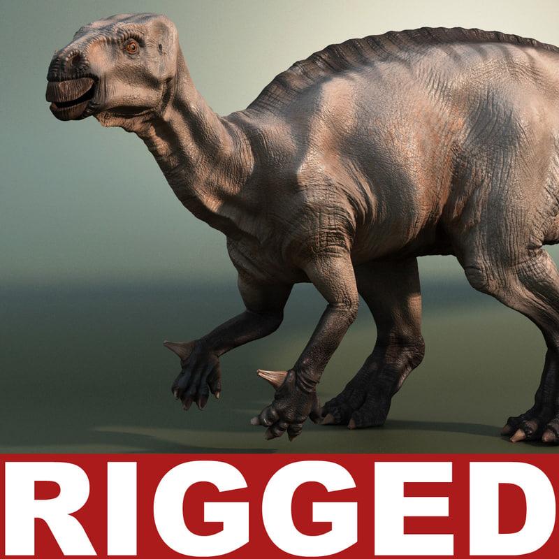 dinosaur iguanodon rigged max