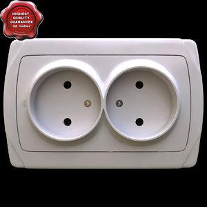 electrical outlet v2 3d model