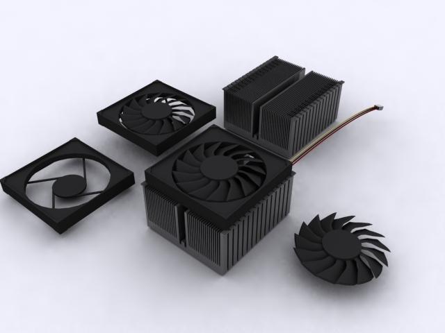 amd am2 processor cooler 3d model