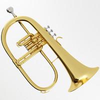 flugelhorn brass 3d model