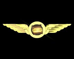 winged tresure prize 3d c4d