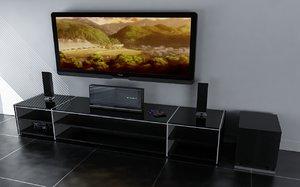 3d home entertainment plasma model