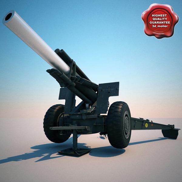 m114a1 155 mm howitzer c4d