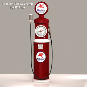 3ds max vintage tokheim mobilgas gas pump