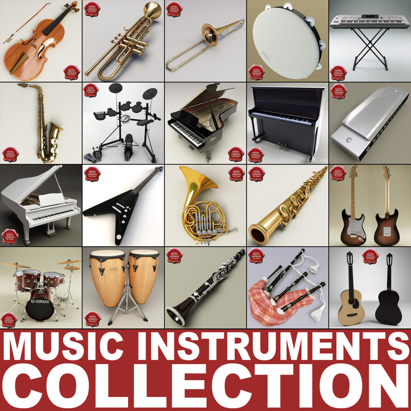 music instruments v8 3d model